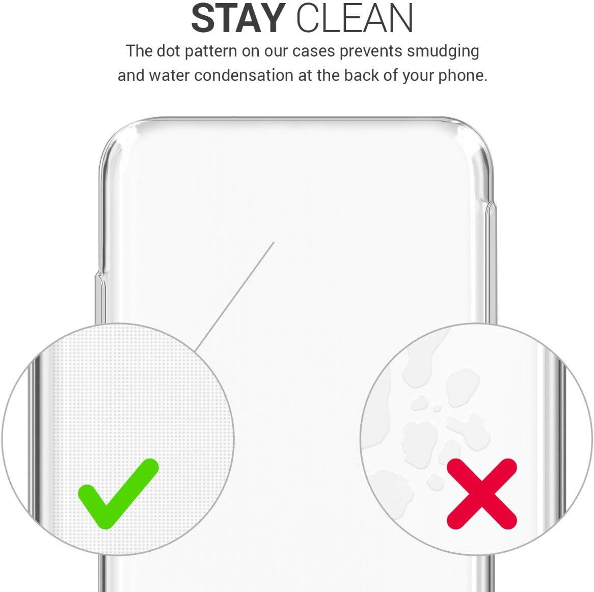 Cover Trasero en Transparente kwmobile Funda Compatible con LG K51S Carcasa de TPU para m/óvil