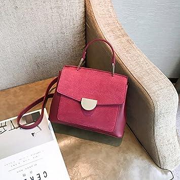 f2807802739e3 OME QIUMEI Kleines Paket Tasche Tasche Für Damen Handtasche Schulter  Diagonal Paket Claret