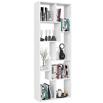 Raumteiler Bücherregal Standregal Aktenregal Büroregal 6 Fächer 70*24*190.5cm
