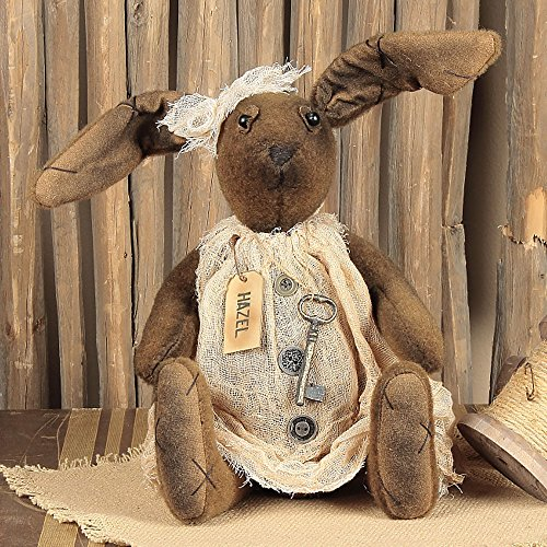 Hazel Bunny - Primitive Country Spring Easter Stuffed Rabbit Doll (Bunny Primitive)