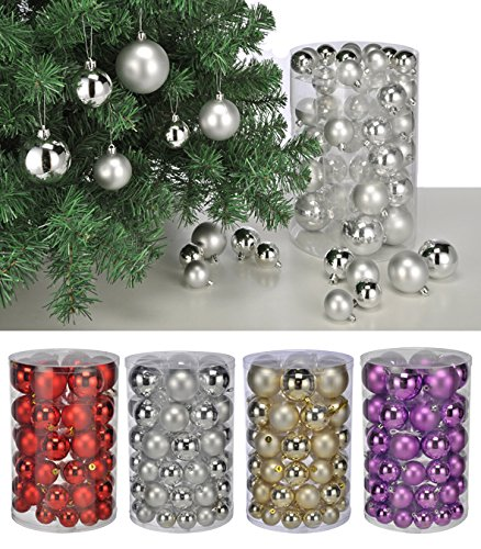 christmas tree baubles set of 60 purple silver and gold tree baubles christmas tree baubles