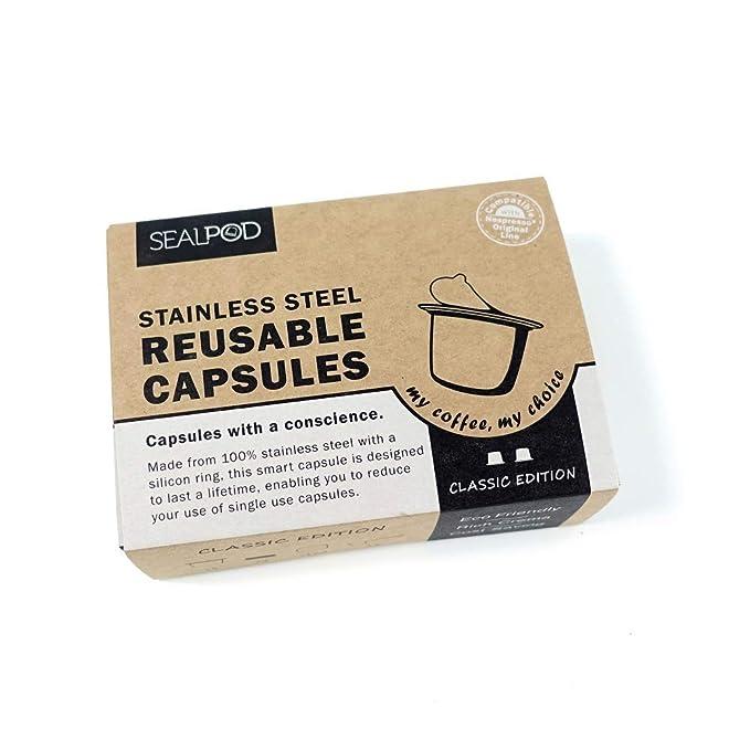 Amazon.com: Cápsulas de Nespresso reutilizables – Sealpod de ...