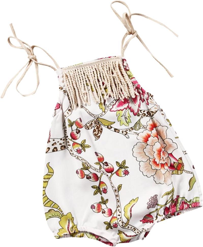 0-2T Infant Baby Girl Bodysuit Floral Romper Jumpsuit Outfits Sunsuit Clothes W