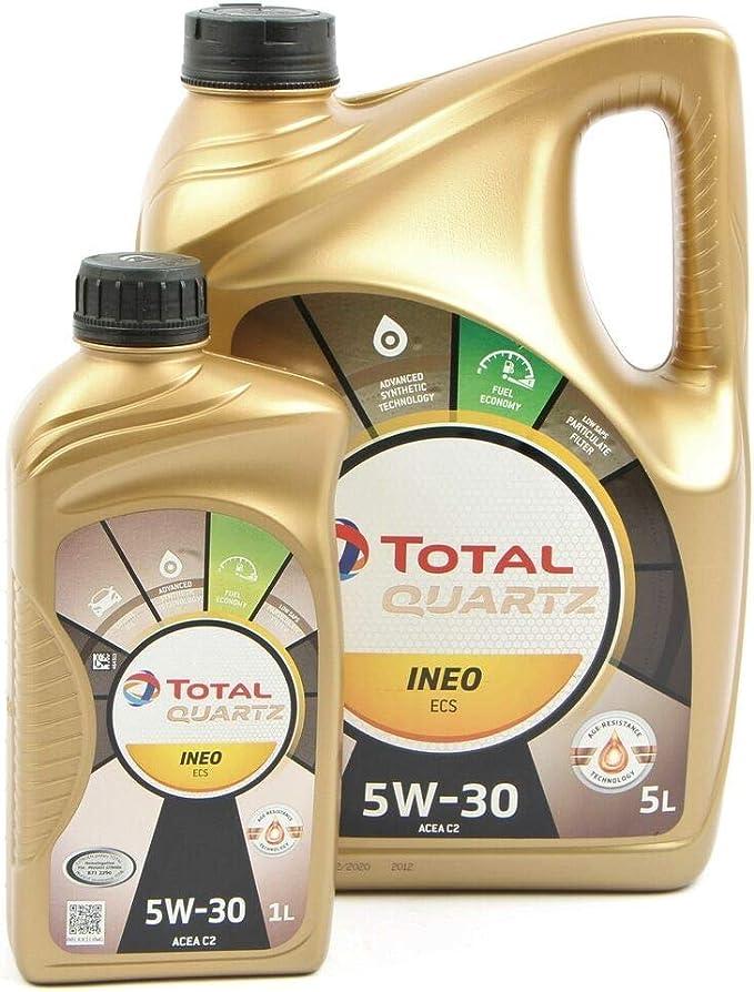 Total Quartz Ineo Ecs 5 W30 6 Litres 1 X 5 Lts 1 X 1 Lt Auto