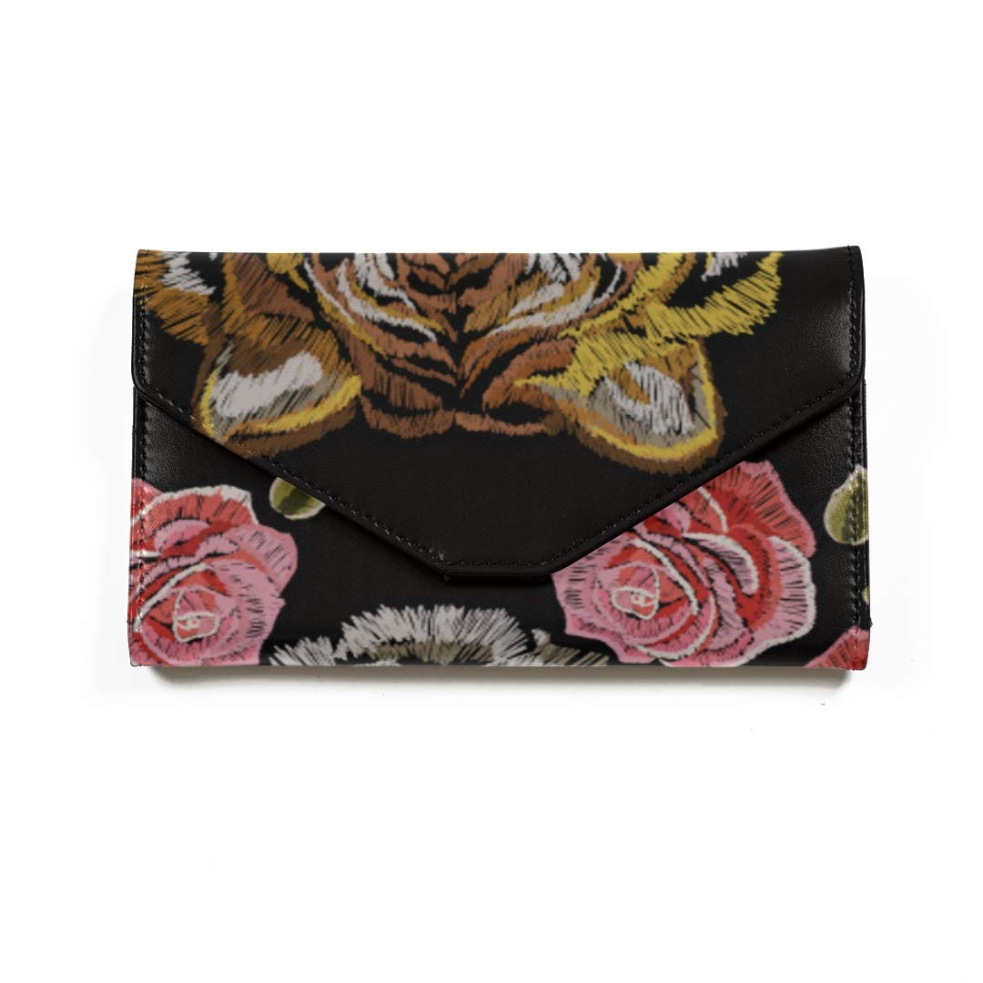 Amazon.com | Embroidered Tigers And Roses Travel Passport ...