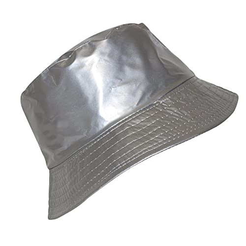 Tendance-bob-Sombrero de lluvia para mujer, color plateado