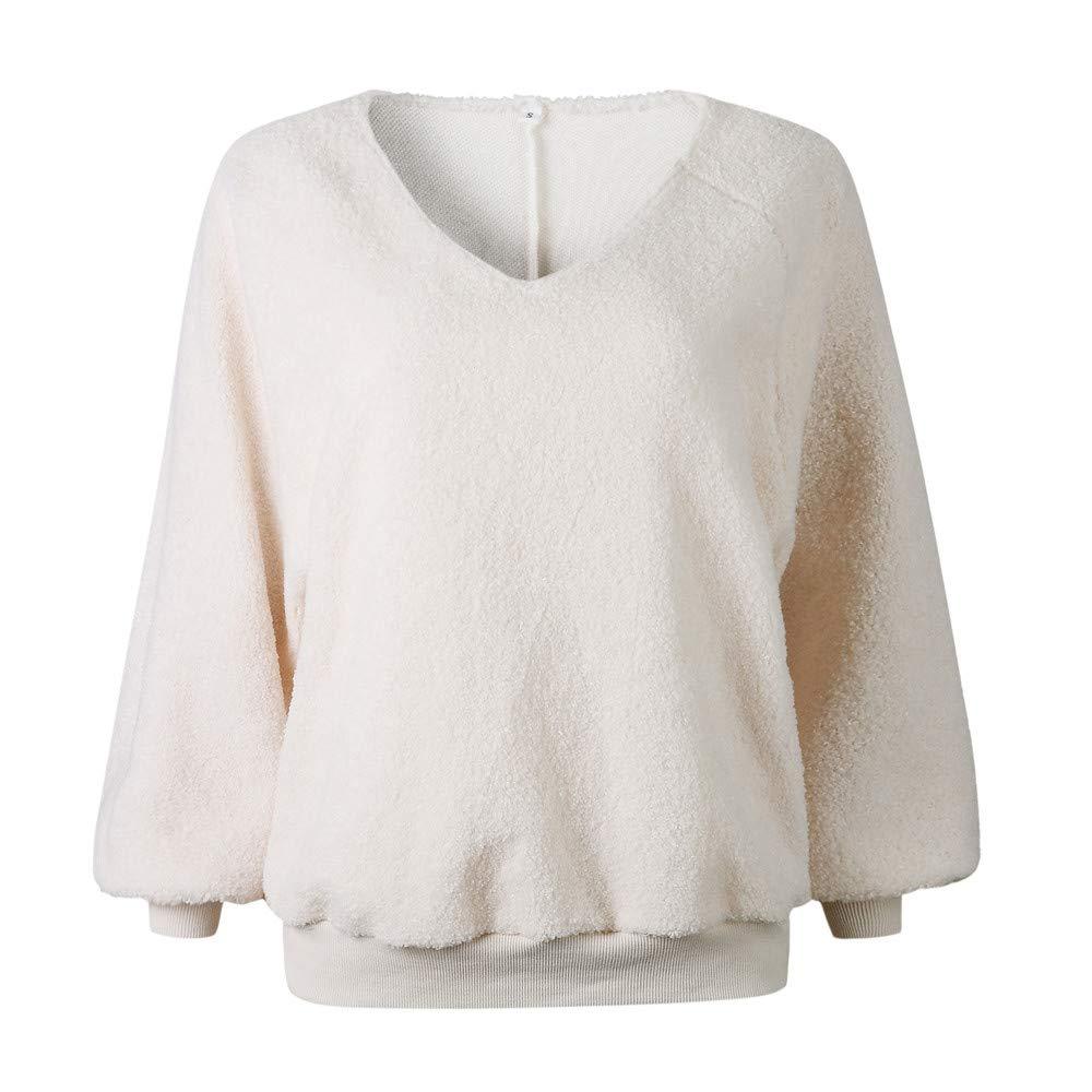 Goosuny Pullover Damen Mode Frauen Velvet Langarm Laterne