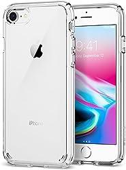 【Spigen】 スマホケース iPhone8 ケース / iPhone7 ケース 対応 全面クリア 耐衝撃 米軍MIL規格取得 ウルトラ・ハイブリッド2 042CS20927 (クリスタル・クリア)