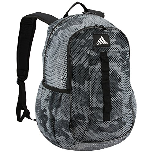 adidas Hermosa Mesh Backpack, Data Camo/Grey, One Size