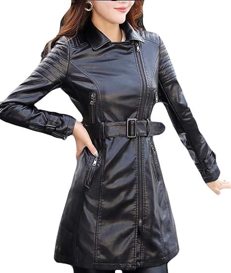 manteau femme imitation cuir