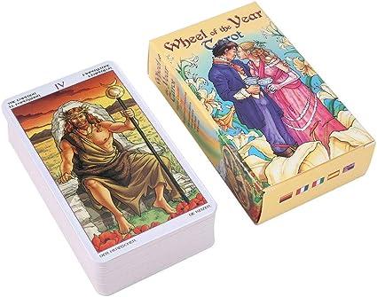 SJGDBN-zdnjhzk Tarot Tarot Card Reading Destiny Juego de Cartas de Tarot para Uso Personal Juego de Mesa 78 Cartas: Amazon.es: Coche y moto