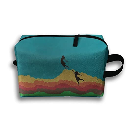 Storage Bag Travel Pouch Drawing Rainbow Clouds Girls Purse Organizer Power Bank Data Wire Cosmetic Stationery