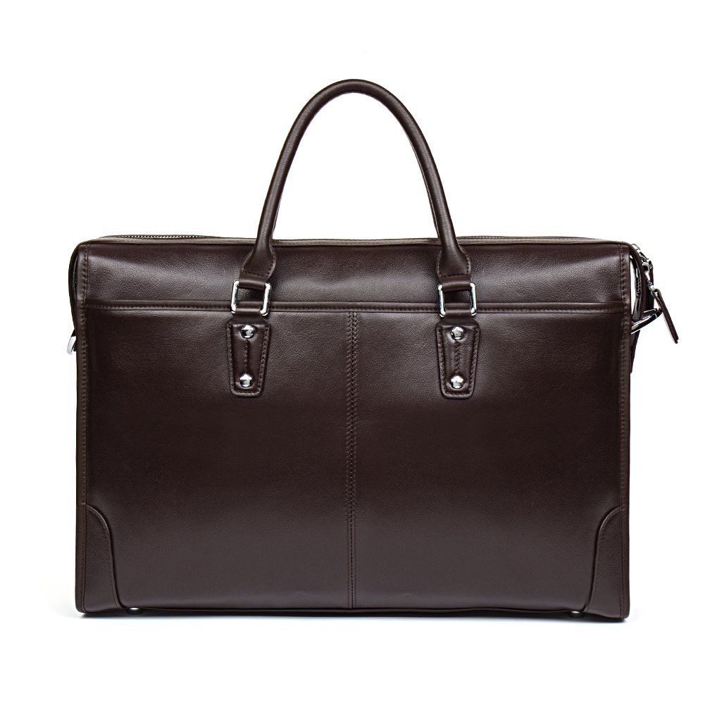 MANTOBRUCE Leather Briefcase for Men Women Travel Work 15'' Laptop Bag by MANTOBRUCE (Image #3)