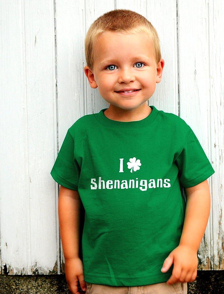 I Clover Shenanigans Funny St Patricks Day Toddler Kids T-Shirt Tstars