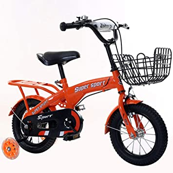 1-1 Niños Bicicleta de montaña Altura Ajustable Destello Ruedas de PU Bicicleta Doble Freno
