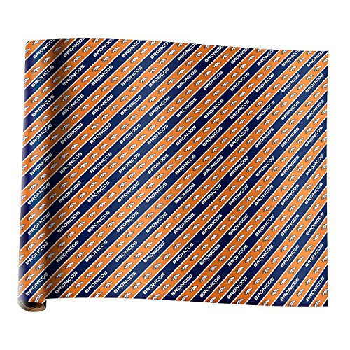 (Forever Collectibles Denver Broncos Team Gift Wrapping Paper)