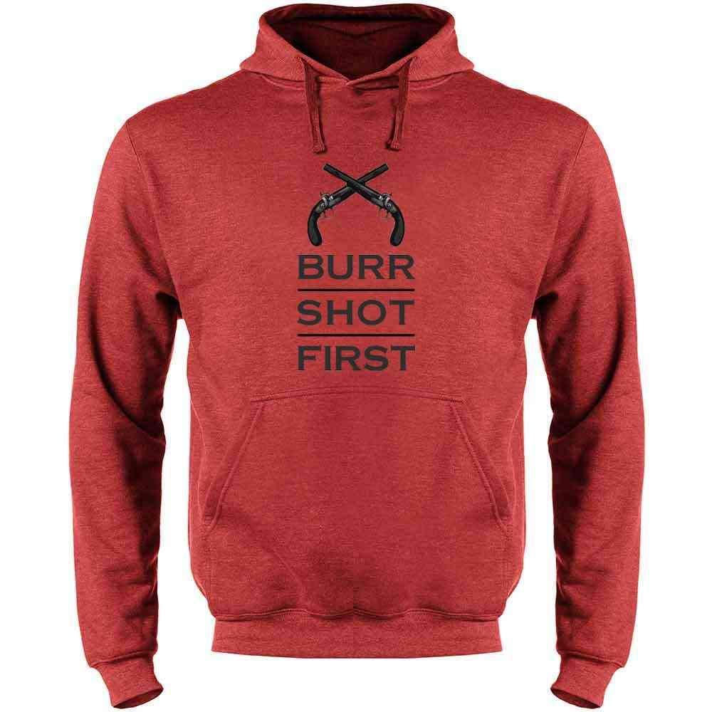 Aaron Burr Shot First History Alexander Hamilton Mens Fleece Hoodie Sweatshirt