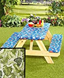 3 Piece LEAF Fitted Picnic Table & Bench Seat Cover