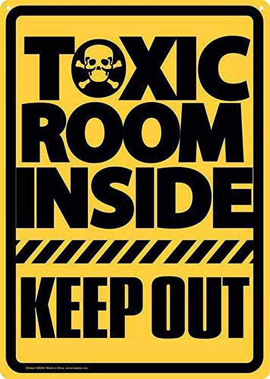 DGBELL Toic Room Inside Keep out Cartel de Pared de Chapa ...