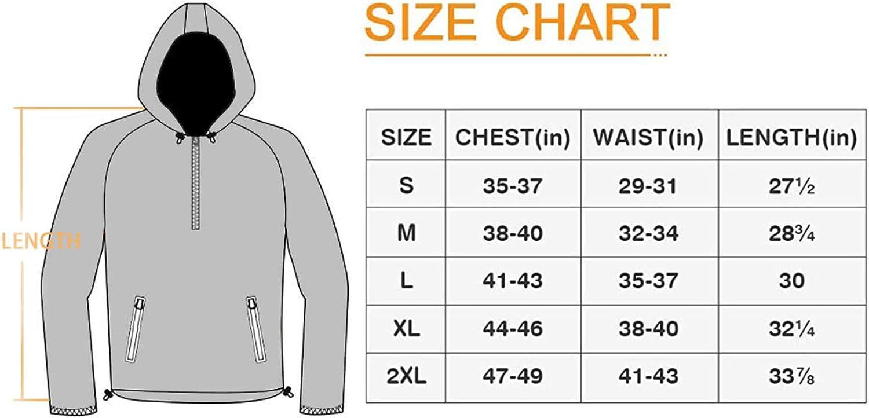 TEZO Mens Rain Jacket Waterproof Hooded Coat Pullover Windbreaker Packable Raincoats