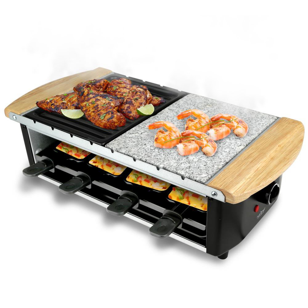 2. NutriChef PKGRST32 Electric Two-Tier Raclette Grill