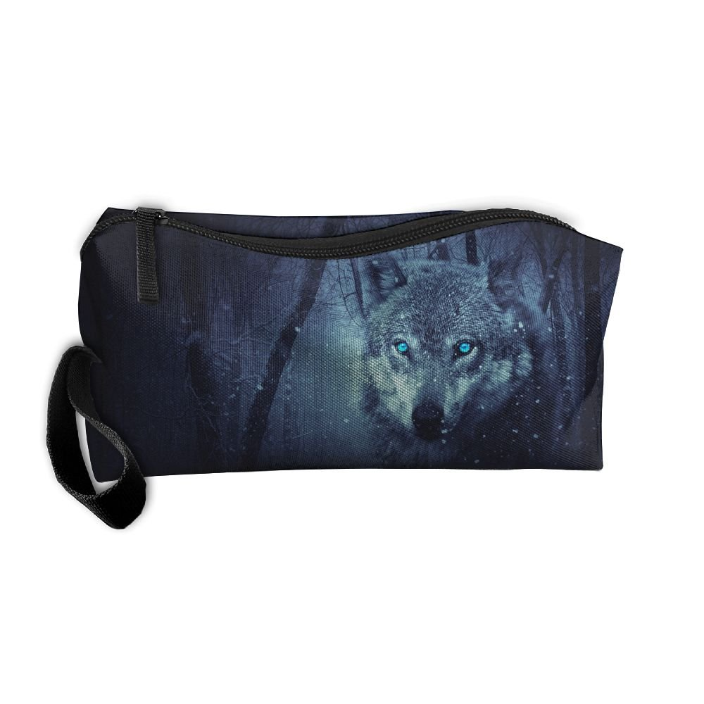 best Vvdfedsee Wolf Multifunction Handle Toiletry Bag Portable Buggy Bag  Travel Small Makeup Clutch Bag Cosmetic f5d02202c0