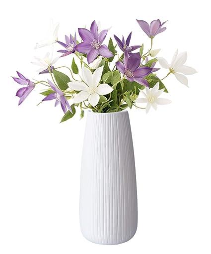 246 & GeLive White Ceramic Flower Vase Ikebana Flower Arrangement Decorative Bud Hydroponics Container Home Decor Table Centerpieces Vase Floral ...