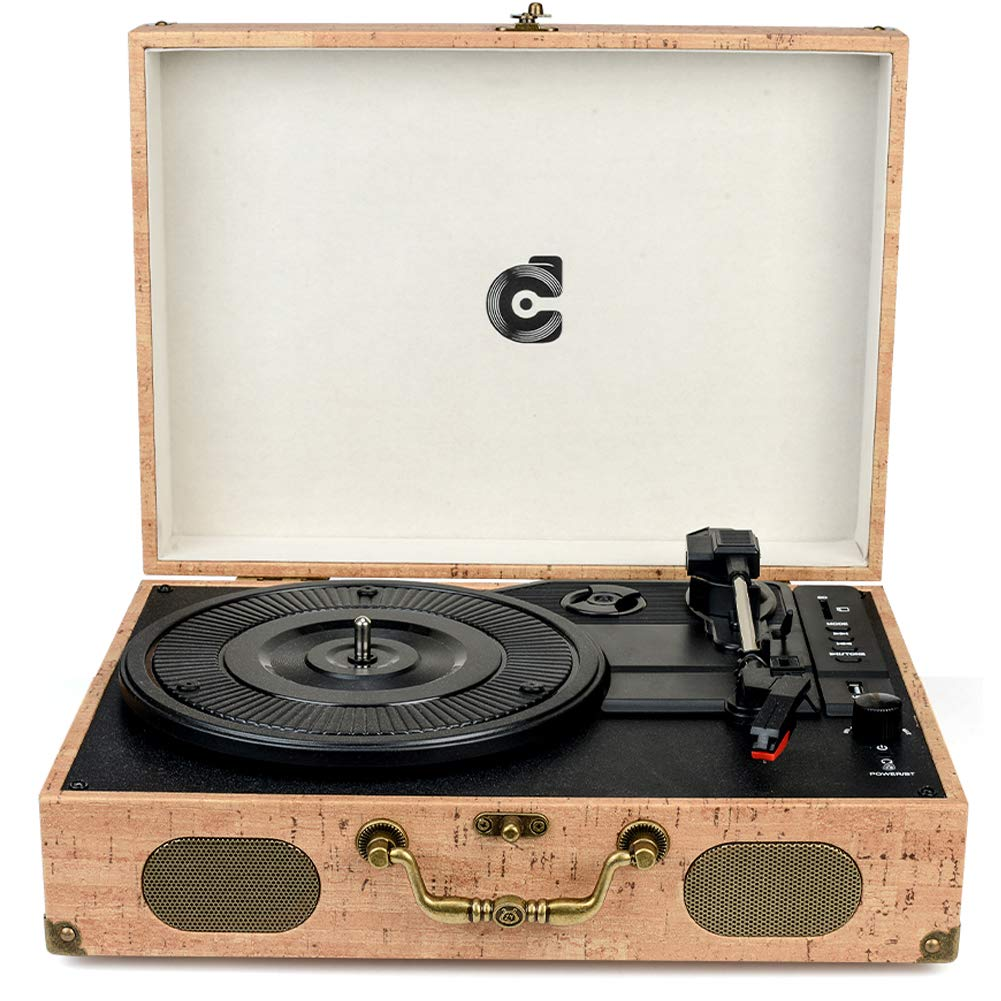 front facing Wockoder Turntable Suitcase