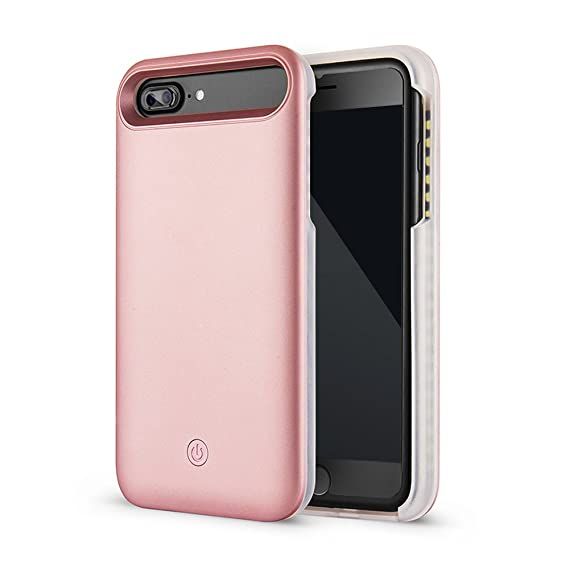 release date: 0ec42 3621e LED Selfie Light Up Illuminated Case for iphone 8 plus / iPhone 7 Plus /  iphone 6S Plus / iPhone 6 Plus (Rose Gold)