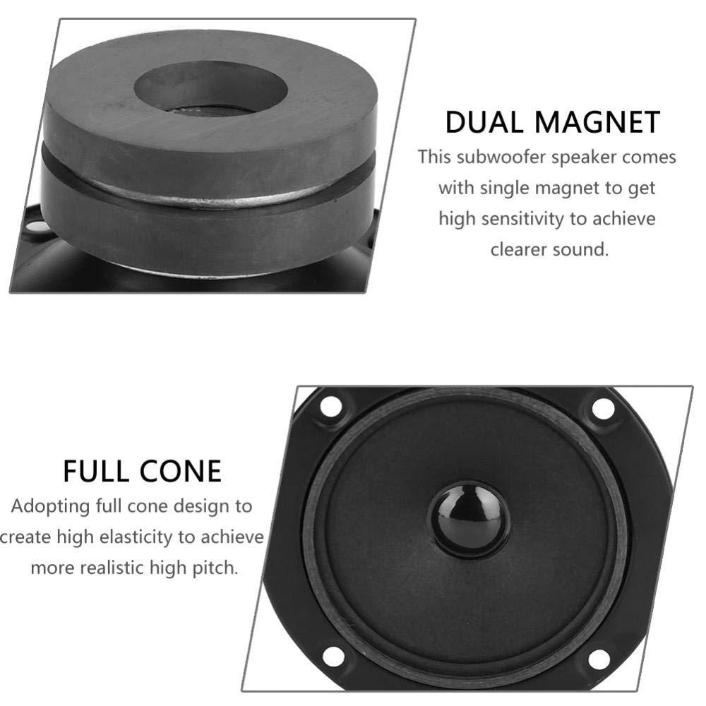 Bewinner 3in High Pitch Speaker Portable Dual-magnetic Treble Speaker Clear /& Dreamlike High Pitch Bass Loudspeaker for KTV Box Car Speaker Single Two magnets