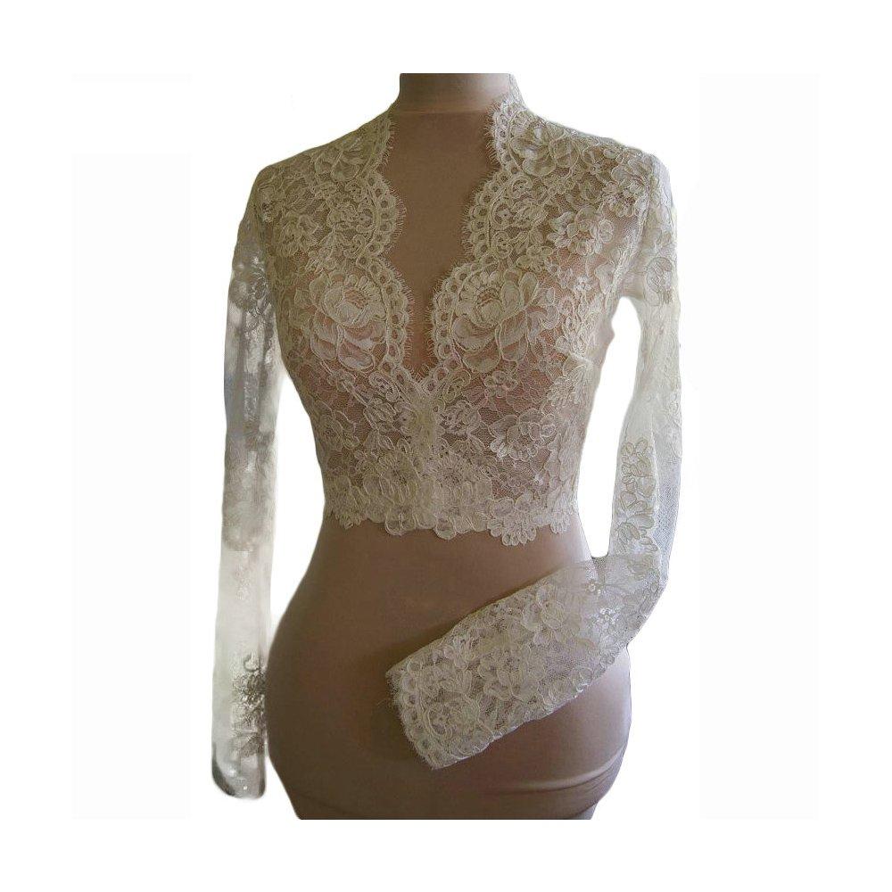 DEFEINA Women's Long Sleeve Bolero Jacket Wedding Bridal Wraps Evening Party Shrug