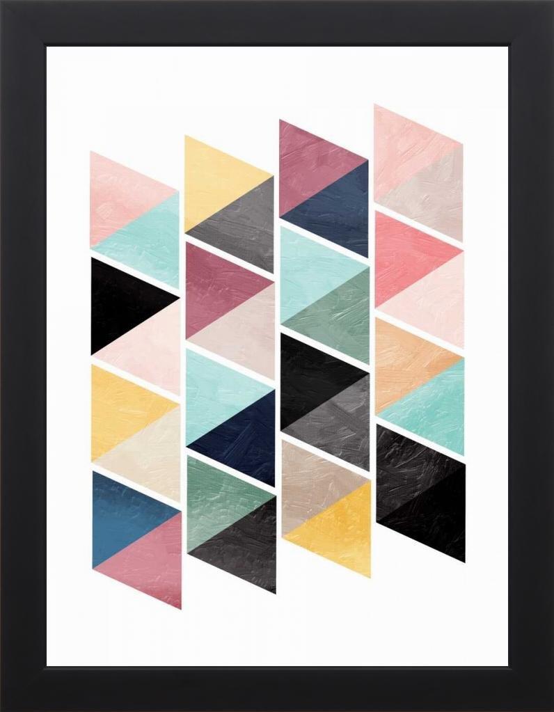 18x24 School Of Triangles by OnRei: Studio Black ON-RC-108A
