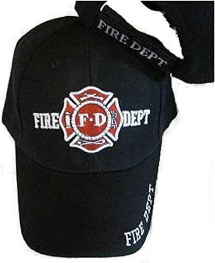 FD FIRE DEPARTMENT BASEBALL CAP HAT BLACK
