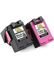 CMCMCM Remanufactured Ink Cartridges for HP 63 XL 63XL Combo Pack Use in Envy 4520 4522 4516 4512 OfficeJet 4650 3830 3831 DeskJet 3630 3632 3634 2130 1112 2132 Printer ( 1Black + 1Color)