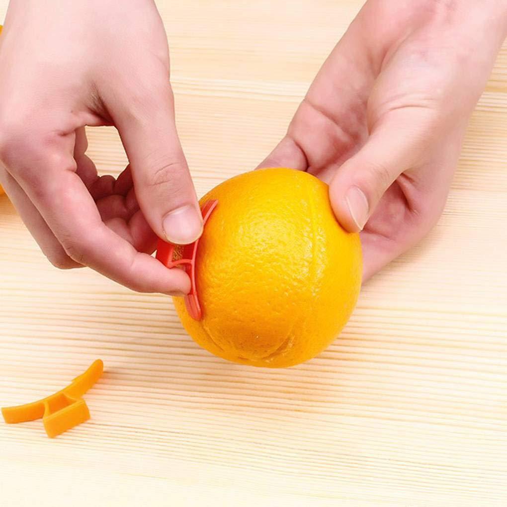 Laileya 10pcs multifunci/ón Orange Peelers Zesters lim/ón separadores de Frutas Cortadoras Cortador pl/ástico Color al Azar