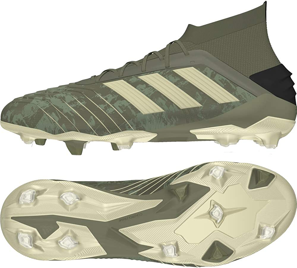 adidas Predator 19.1 FG, Chaussures de Football Homme Vert (Legacy Green/Sand/Solar Yellow Legacy Green/Sand/Solar Yellow)