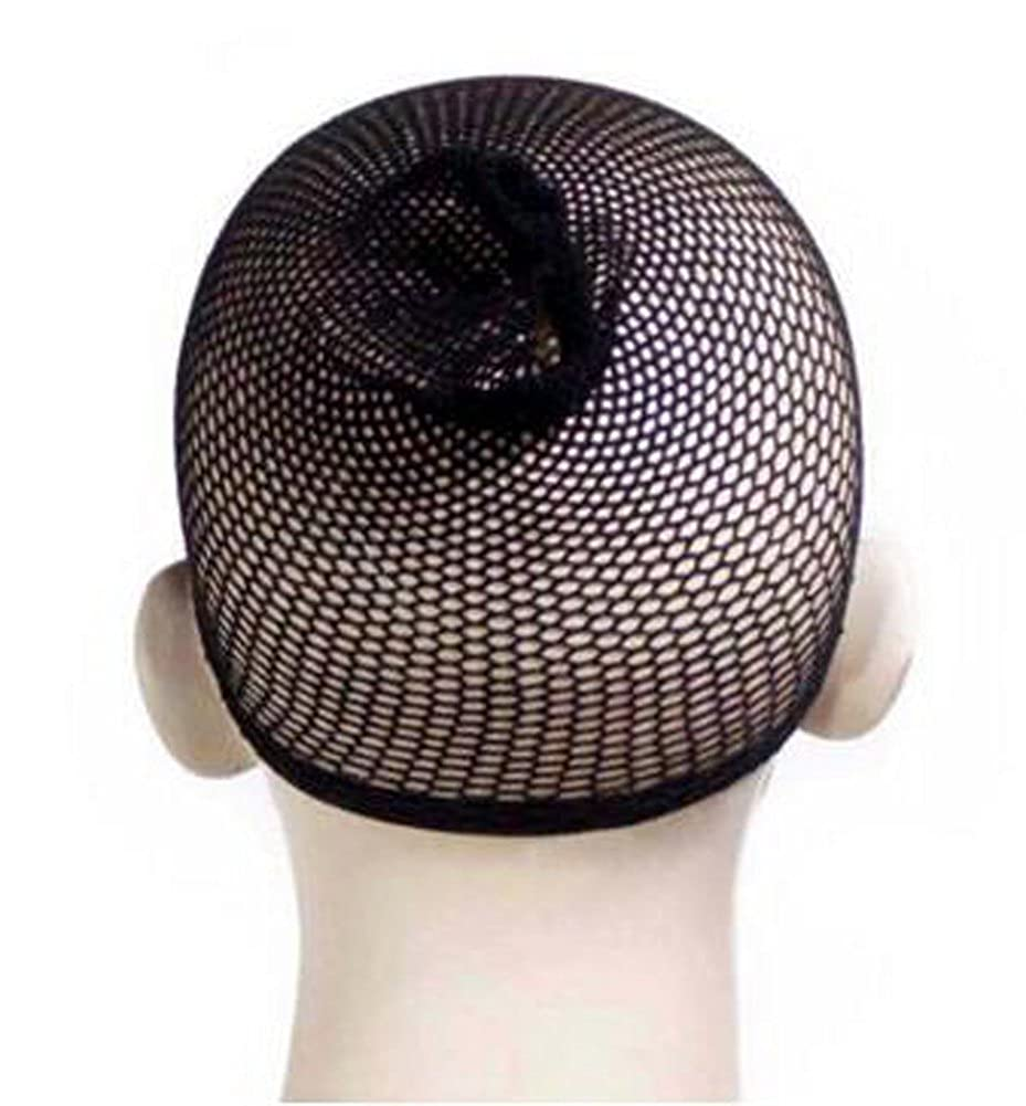 Nylon Black Hair Stretch Weaving Breathable Full Head Net Mesh Wig Cap WGS-Cap1