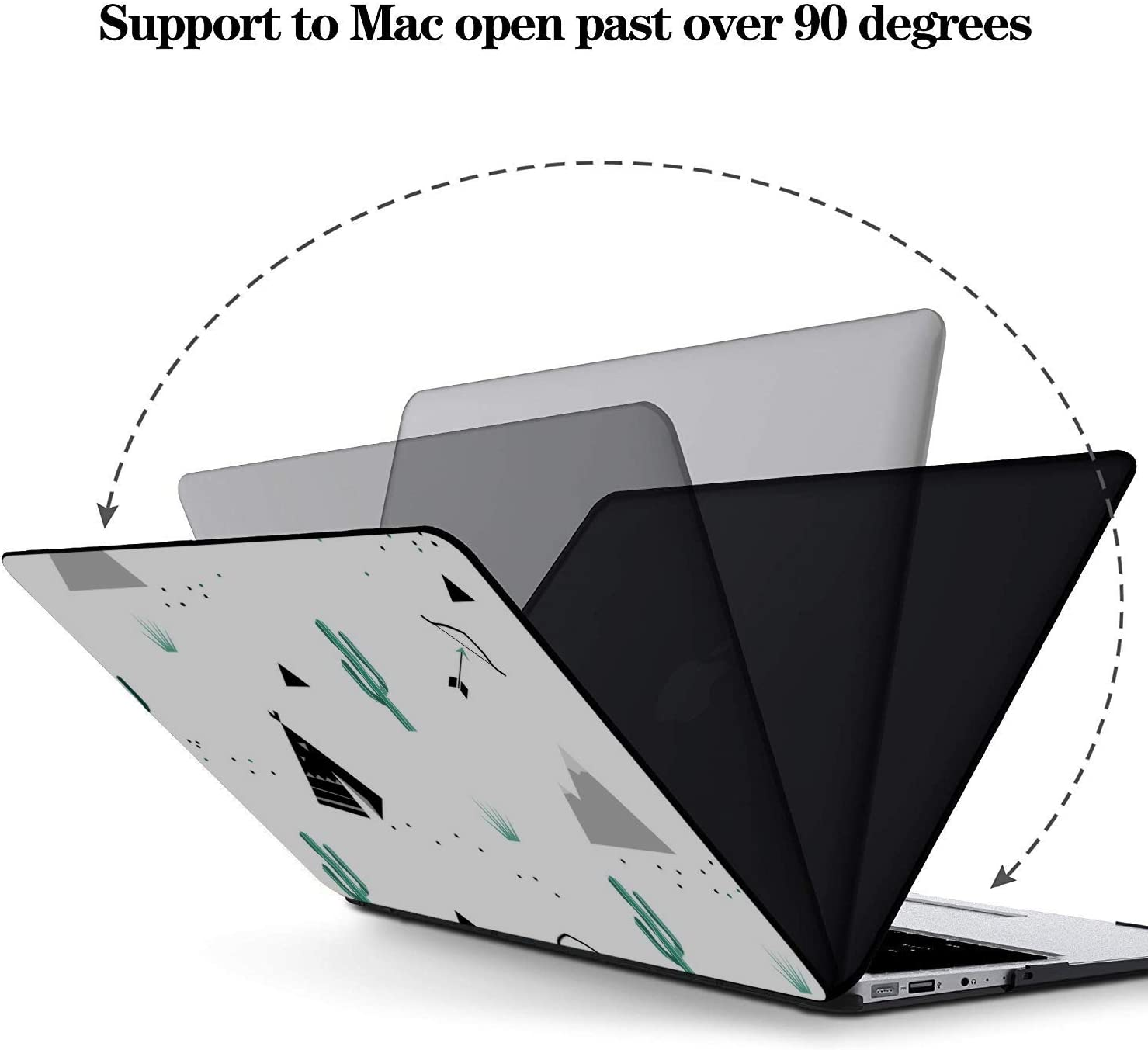 MacBook Pro 13 Cases Wilderness Nature View Sun Cactus Tree Plastic Hard Shell Compatible Mac Air 11 Pro 13 15 13inch MacBook Pro Case Protection for MacBook 2016-2019 Version