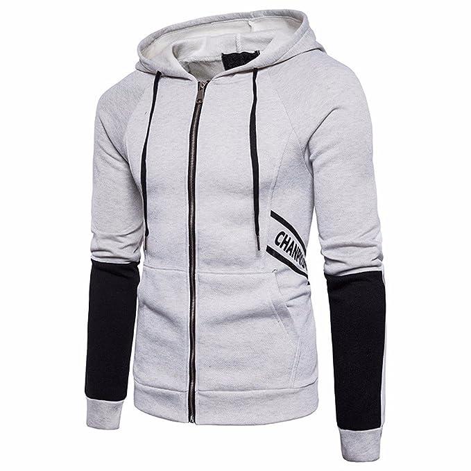 Amazon.com: Sannysis Mens Pullover Hoodie,Men Autumn Slim Letter Printed Sweater Hooded Shirt Zipper Tops Blouse Outwear: Clothing
