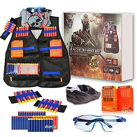 Tactical Nerf Vest Kit for Nerf Guns N-Strike Elite Series LEVENUSTAR (Gears Of War Mission)