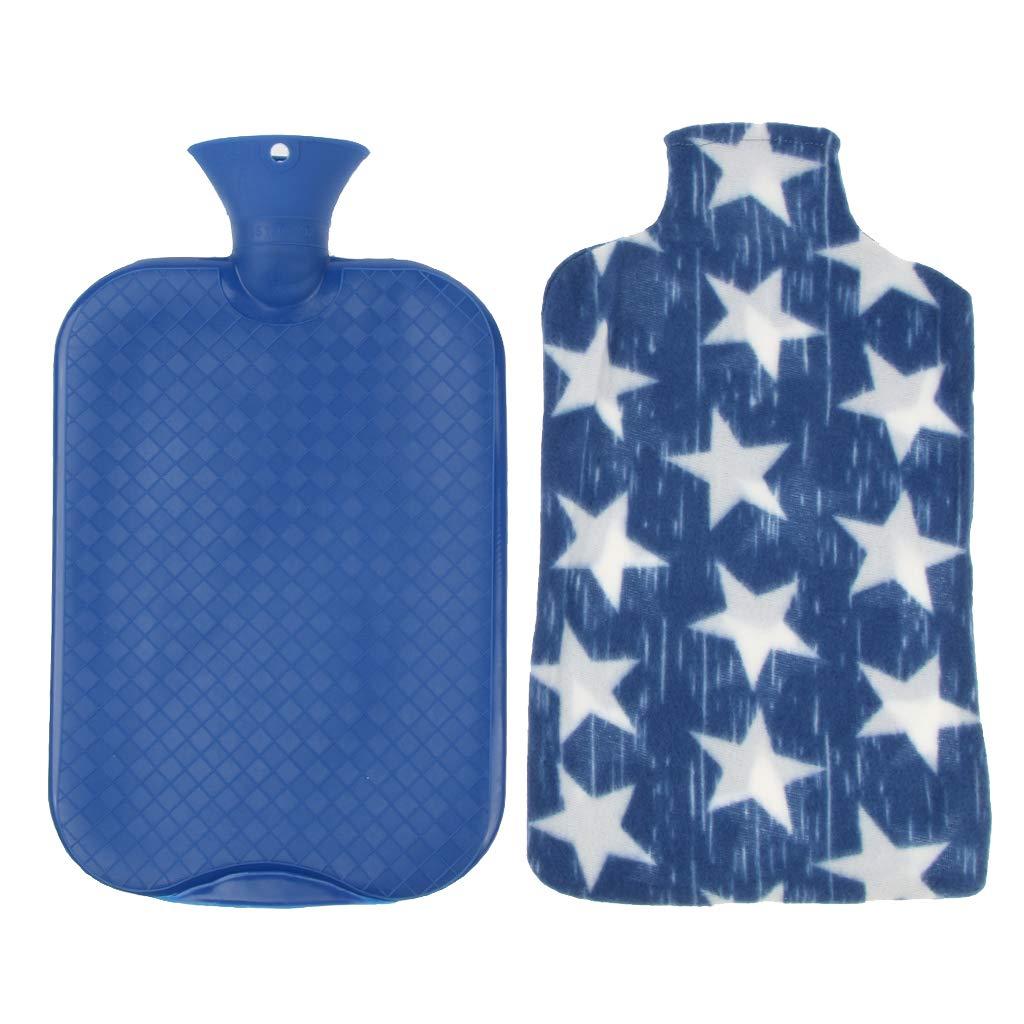 3 Liter Blau W/ärmetherapie P Prettyia Gro/ße W/ärmflasche mit Bezug