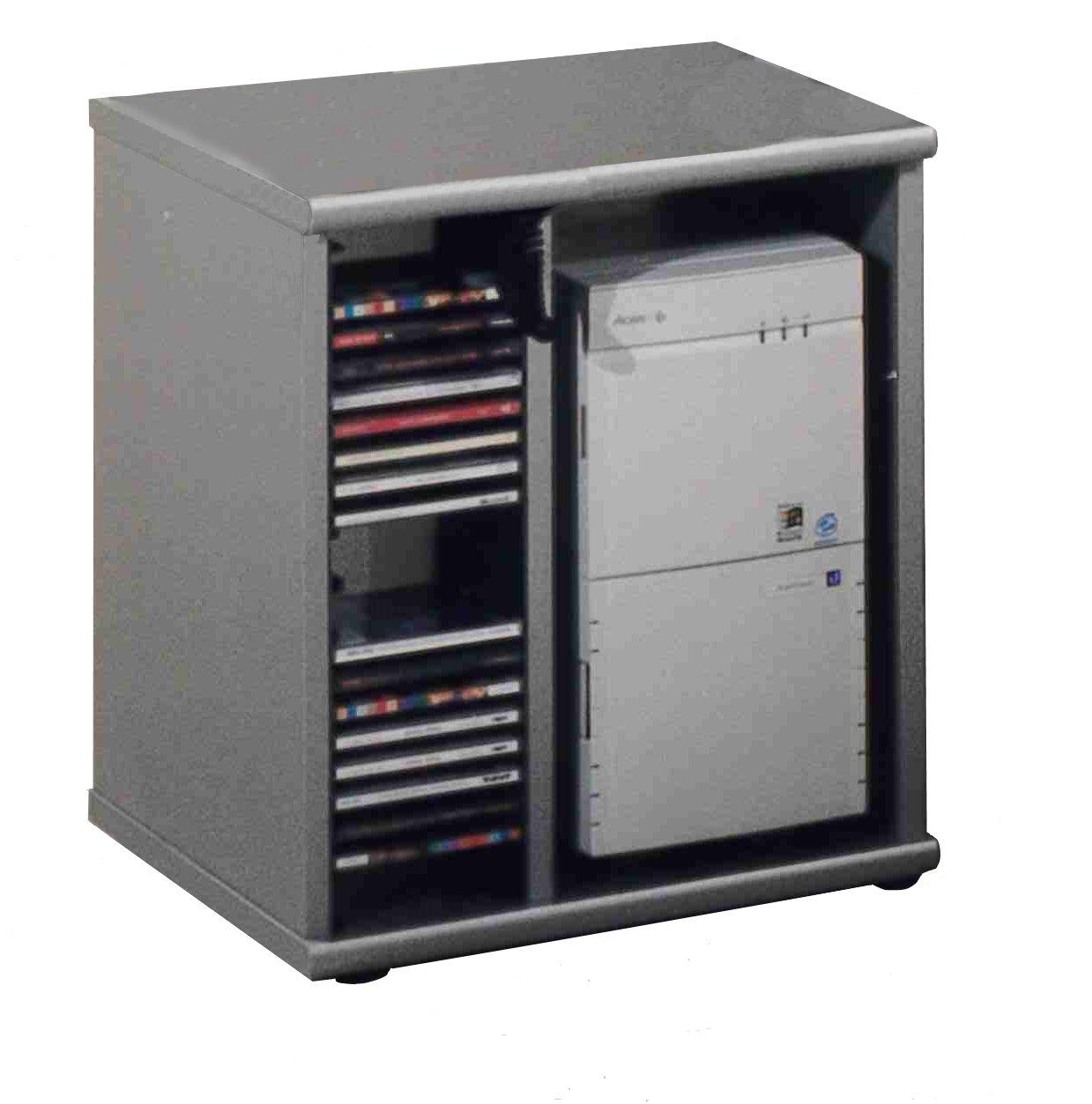 Büroeinrichtung Büromöbel Aktenschrank Aktenregal Buche Alu - Dekor Schreibtisch PC-Tisch Container (PC-Container HA682-4)