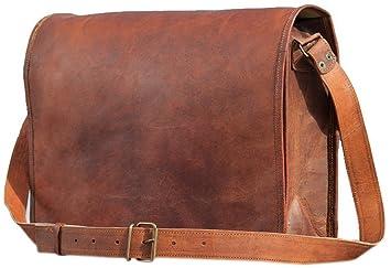 TUZECH Genuine Leather Bag Handmade Vintage Rustic Cross Body Messenger  Courier Satchel Bag Gift Men Women 0e0003d6c4