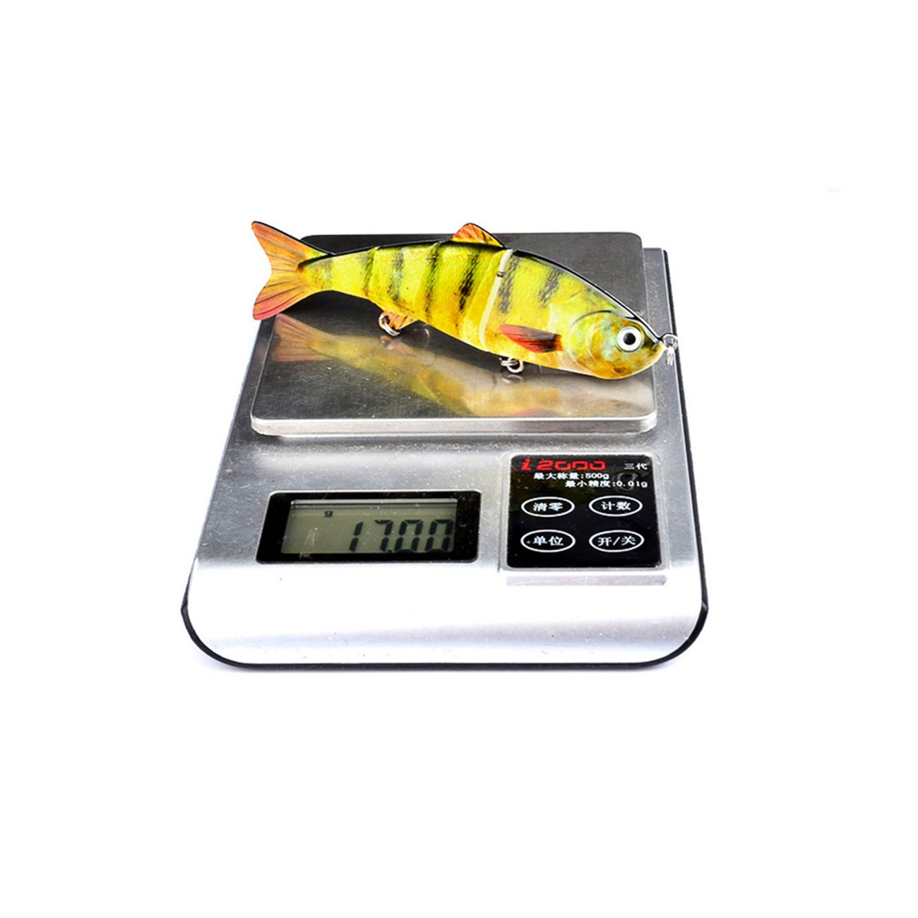 Life-like Multi-section Floating Lures,12cm//17g Classic Lure Bait Plastic Hard Bait MKNzone 1 pc Multi-jointed Fishing Lure 7 Random Colour