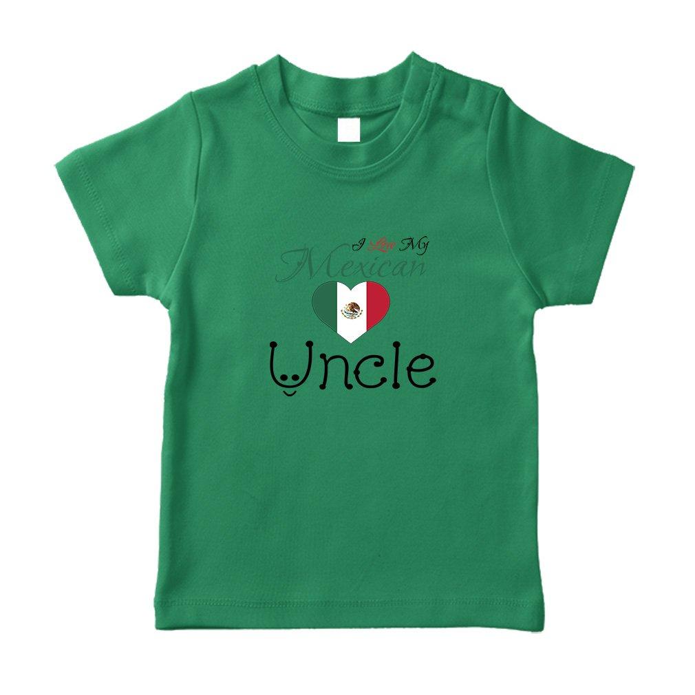 Cute Rascals I Love My Mexican Uncle Cotton Crewneck Unisex Toddler T-Shirt Jersey TTNLVCOUI028