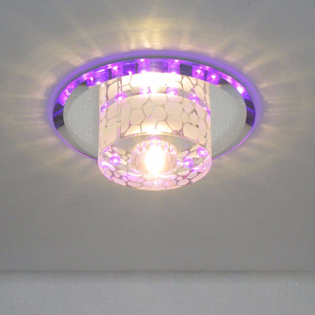 5 W, runde LED-crystal Korridor, Eingang, Wohnzimmer, Balkon, Deckenleuchte (18 cm)