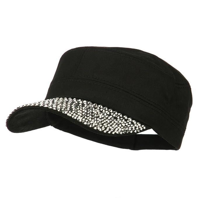 0c161603246 Stones Bill Military Cap - Black OSFM at Amazon Women s Clothing store