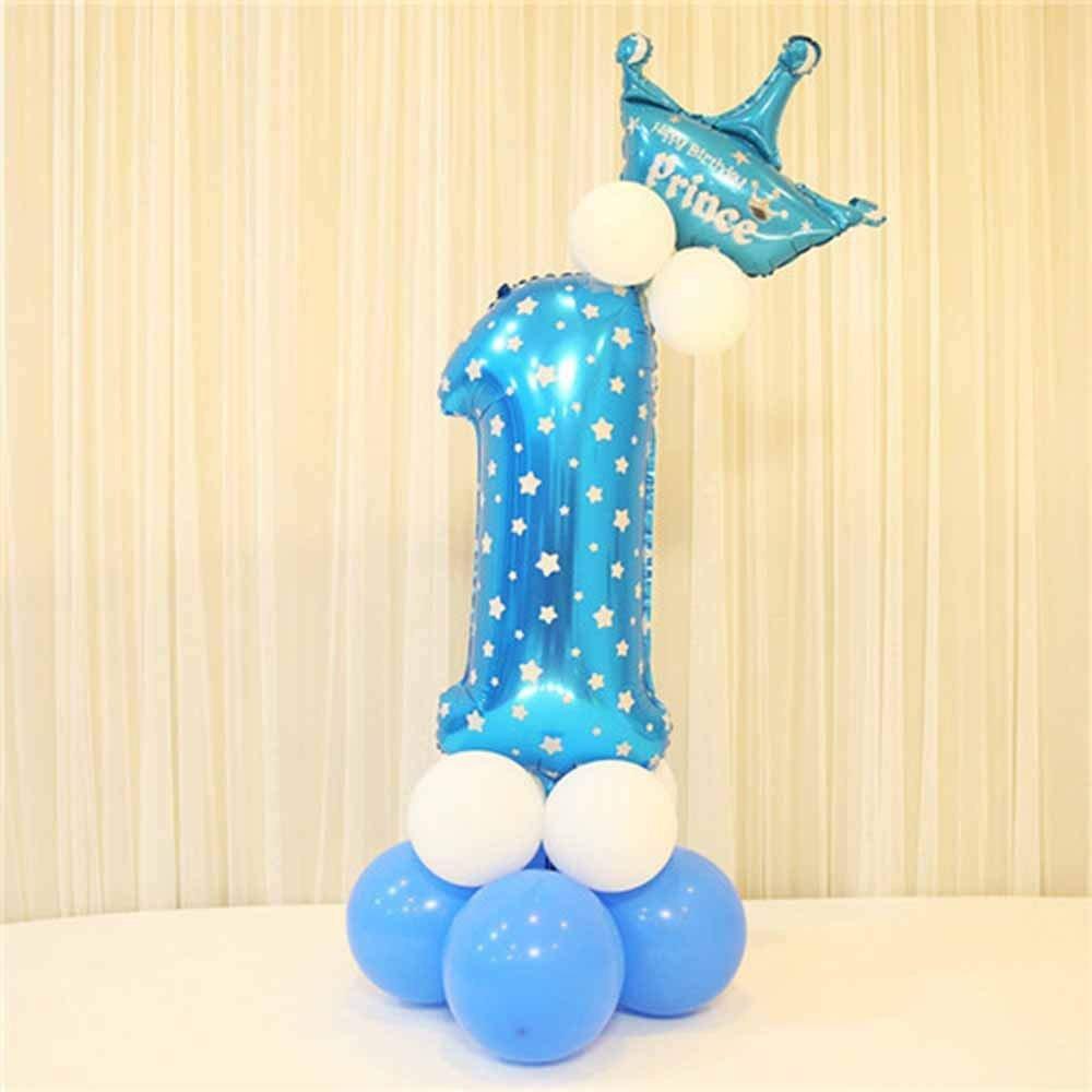 MENGZHEN - Globos de Helio para Fiesta de Cumpleaños, Cumpleaños, Graduación, Aniversario, etc, Látex, Azul, 1