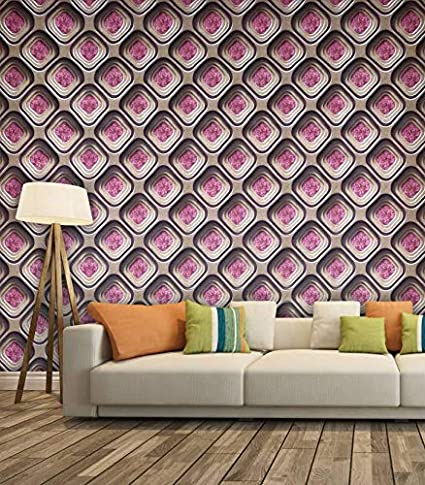 new product 29e80 7a89d Eurotex Textured Vinyl PVC Coated 3D Wallpapers for Home Decoration  (57sqft Per roll)-6344  Amazon.in  Home Improvement