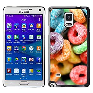 KOKO CASE / Samsung Galaxy Note 4 SM-N910F SM-N910K SM-N910C SM-N910W8 SM-N910U SM-N910 / candy sugar sweets colorful neon rubber / Slim Black Plastic Case Cover Shell Armor